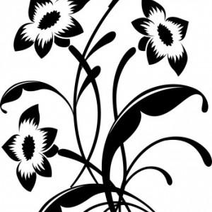 Sticker De Perete Buchet Flori De Colt