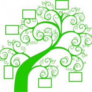 Sticker De Perete - Copac Cu Poze