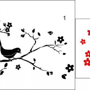 Sticker De Perete Copacul Cu Pasarele