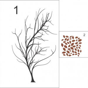 Sticker De Perete Copacul Tomnatic