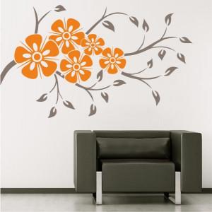 Sticker De Perete Creanga Cu Flori