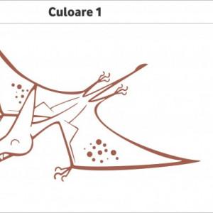 Sticker De Perete Dinozaur Zburator (In Doua Culori)