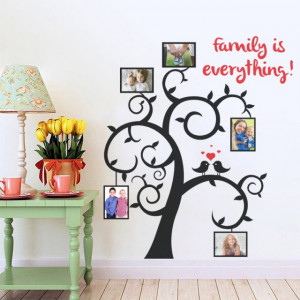 Sticker De Perete Family Is Everything - Copac Cu Poze