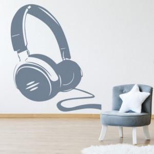 Sticker de Perete Headphones Music