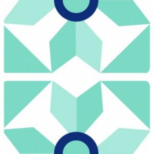 Sticker De Perete Imitatie Faianta Model Stea
