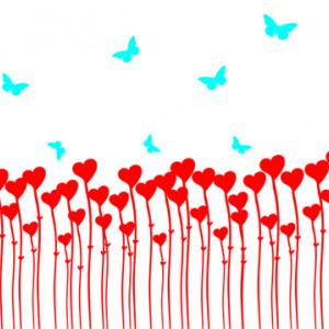 Sticker De Perete Inimi Si Fluturi