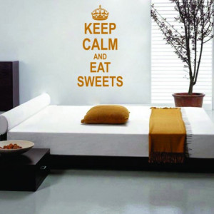 Sticker De Perete Keep Calm And Eat Sweets