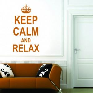 Sticker De Perete Keep Calm And Relax