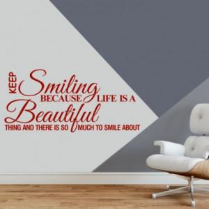 Sticker De Perete Keep Smiling