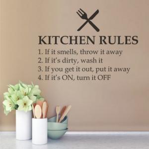 Sticker De Perete Kitchen Rules