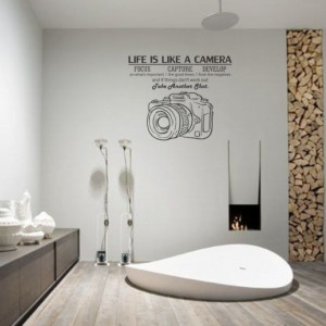 Sticker De Perete Life Is Like A Camera