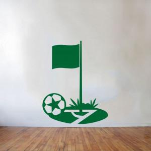 Sticker De Perete Minge De Fotbal