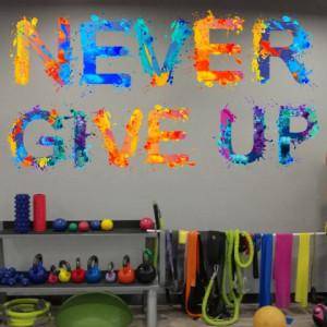 Sticker De Perete Never Give Up