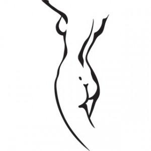Sticker De Perete Silueta Femeie