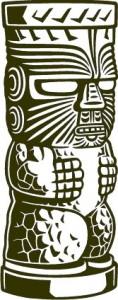 Sticker De Perete Statueta Exotica 1