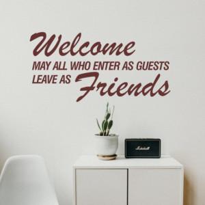 Sticker De Perete Welcome Become Friend