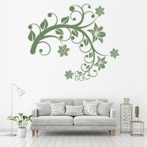 Sticker Flower Branch Floral Swirl