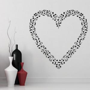 Sticker Love Heart Music