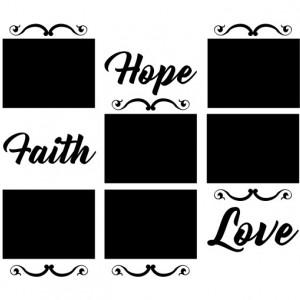 Sticker Si Canvas - Hope Faith Love
