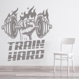 Sticker Train Hard Bodybuilder