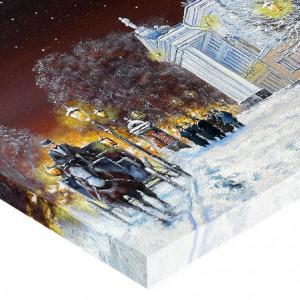 Tablou Canvas Efect Pictura Peisaj De Iarna Seara
