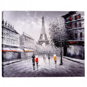 Tablou Canvas Efect Pictura Siluete In Paris