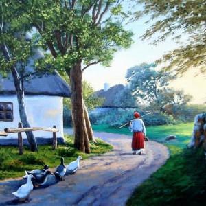 Tablou Canvas Efect Pictura Viata La Tara