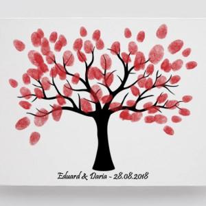 Tablou Canvas Finger Print Tree Glow