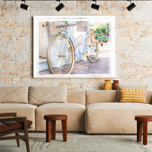 Tablou Canvas Golden Bike Photo