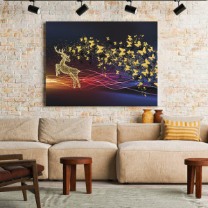 Tablou Canvas Golden butterflies