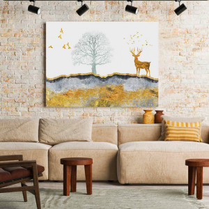 Tablou Canvas Golden Serenity