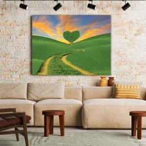 Tablou Canvas Green Heart Tree