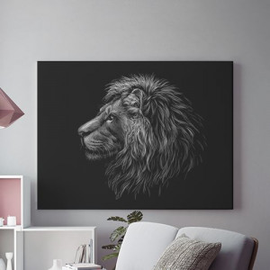Tablou Canvas Grey lion- 01
