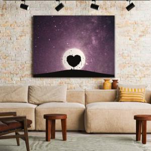Tablou Canvas Heart Tree Silhouette