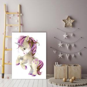 Tablou copii - Cute Pink Pony