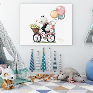 Tablou copii - Panda pe bicicleta