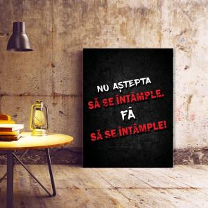 Tablou motivational - Nu astepta sa se intample