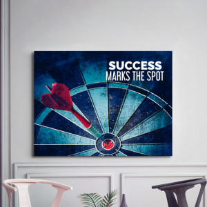 Tablou motivational - Success marks the spot