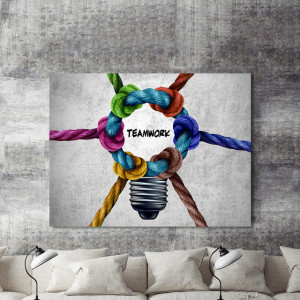 Tablou motivational - Teamwork (knots)