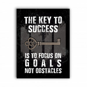 Tablou Motivational - The Key to Success (old grunge)