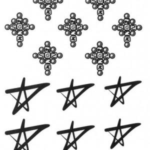 Tatuaj temporar -stars- 17x10cm