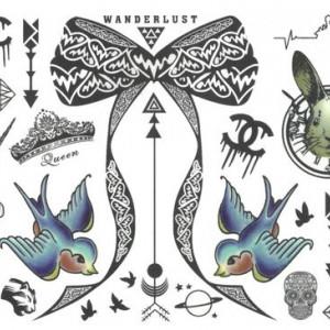 Tatuaj temporar -wanderlust- 10x17cm