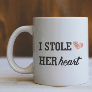 I STOLE HER HEART - Sketched heart