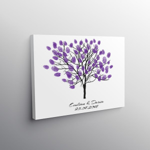 Finger print tree art