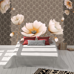 Foto tapet White flowers tapestry