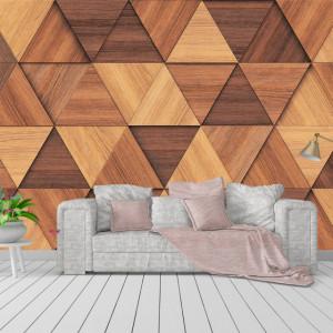 Foto Tapet Wooden Bricks