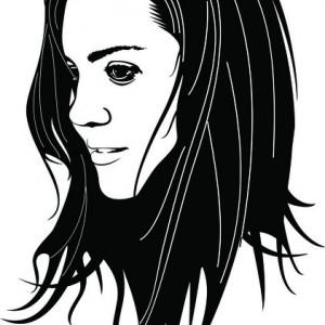 Sticker De Perete Beautiful Girl Face