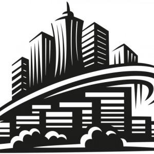 Sticker De Perete Blocuri In Oras