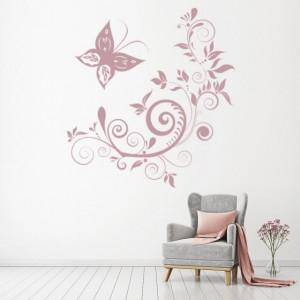 Sticker De Perete Butterfly Swirls