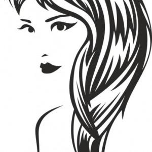 Sticker De Perete Chip De Femeie